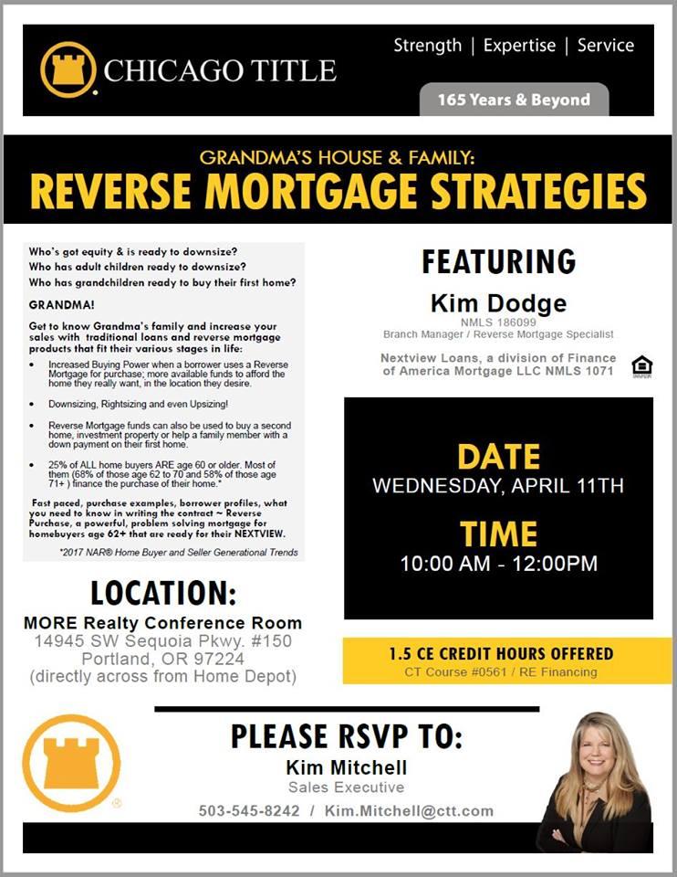 Kim Dodge Reverse Mortgage Broker Lender AAG Tom Selleck Oregon Washington